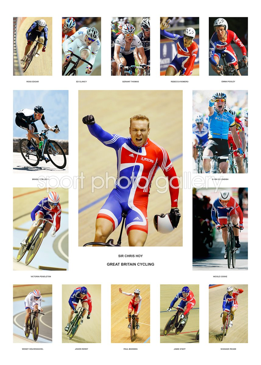 Great Britain Cycling Team Special Photo   Cycling Posters ...