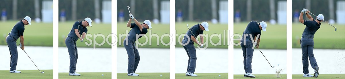 Golf Swing Sequences Print Golf Posters Rory Mcilroy