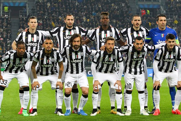 Juventus FC team line up 2015