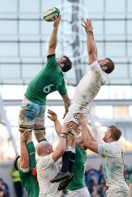 Peter O'Mahoney Ireland v England 2015 Six Nations