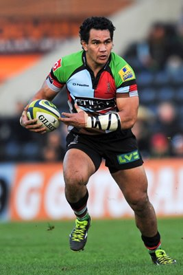 Maurie Fa'asavalu Harlequins v Leicester Tigers