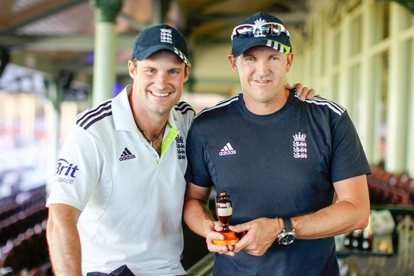 Captain Strauss and Coach Flower - 2010 Ashes Winners