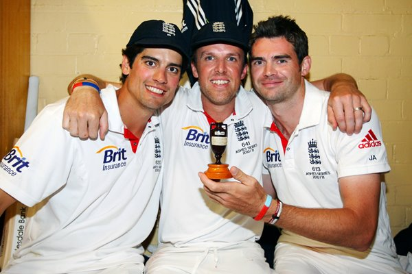 Cook, Swann & Anderson - 2010 Ashes Winners