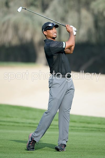 Tiger Woods Dubai Desert Classic Emirates Club 2014