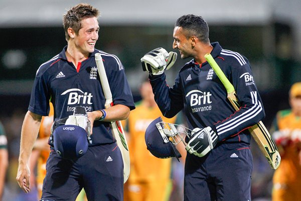Chris Woakes and Ajmal Shahzad - T20 win 2011