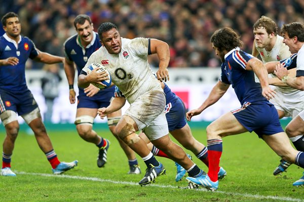 Mako Vunipola England v France Paris 6 Nations 2014