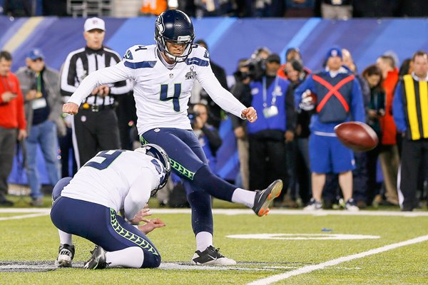 Steven Hauschka Seattle Seahawks v Broncos Super Bowl 2014