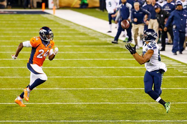 Doug Baldwin Seattle Seahawks v Broncos Super Bowl 2014