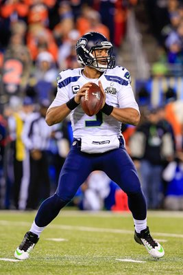Russell Wilson Super Bowl XLVIII Seattle Seahawks 2014