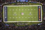 An Aerial View Of Super Bowl XLVIII Prints
