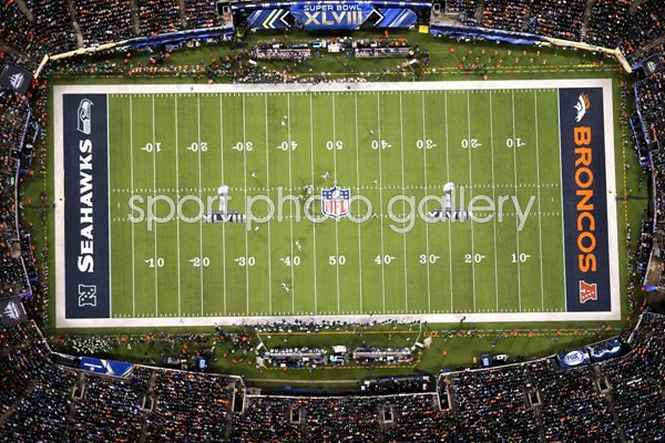 An Aerial View Of Super Bowl XLVIII