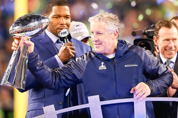 Super Bowl 2014 winning head coach Pete Carroll Seattle Seahawks