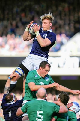 David Denton Scotland v Ireland Murrayfield Six Nations 2015