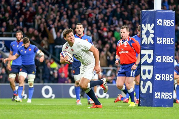 Ben Youngs scores England v France Six Nations 2015