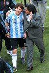 Lionel Messi and Maradona Argentina World Cup 2010 Prints