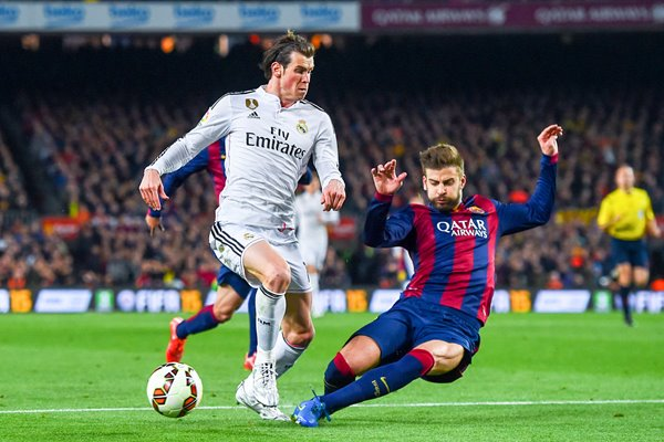 Gareth Bale Real Madrid v Barcelona 2015