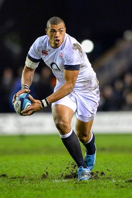 Luther Burrell England v Scotland Six Nations 2014