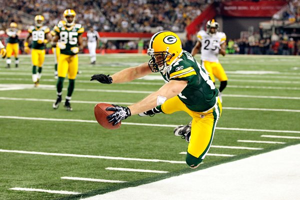 Jordy Nelson of the Green Bay Packers Super Bowl XLV