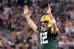 Aaron Rodgers of the Green Bay Packers celebrates Super Bowl XLV Prints