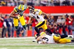 Greg Jennings of the Green Bay Packers catches Super Bowl XLV Prints