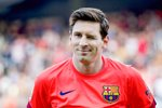 Leo Messi Barcelona wrinkles his eye  Prints