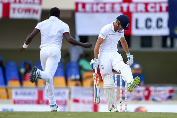Jerome Taylor West Indies v Alastair Cook England 2015