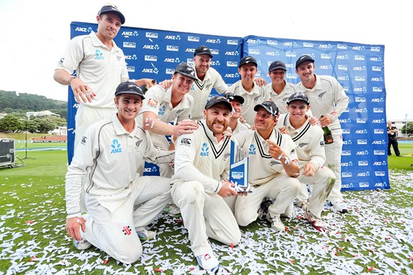 New Zealand win test series v India Wellington 2014