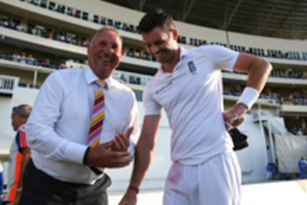 384 James Anderson & 383 Sir Ian Botham Antigua 2015