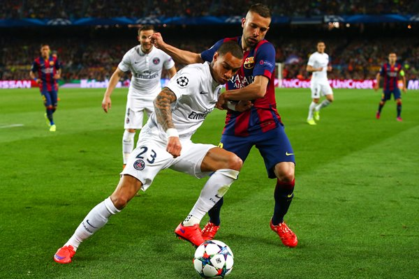 Gregory van der Wiel Paris Saint-Germain v Barcelona Camp Nou 2015