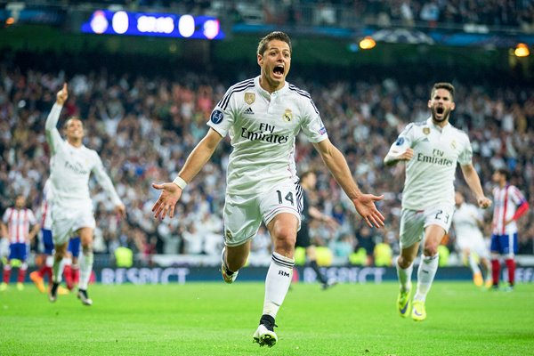 Javier Hernandez Real Madrid CF v Club Atletico de Madrid 2015