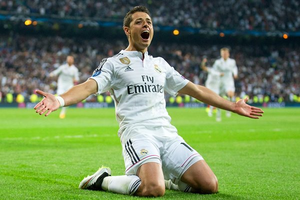Javier Hernandez Real Madrid v Atletico Madrid 2015