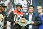 Floyd Mayweather Jr. v Manny Pacquiao News Conference 2015 Prints
