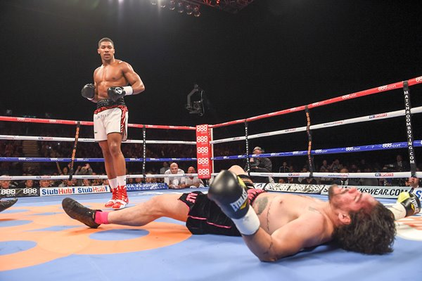 Anthony Joshua Knocks out Raphael Zumbano 2015