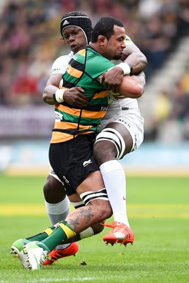 Samu Manoa v Maro Itoje Premiership Semi Final 2015