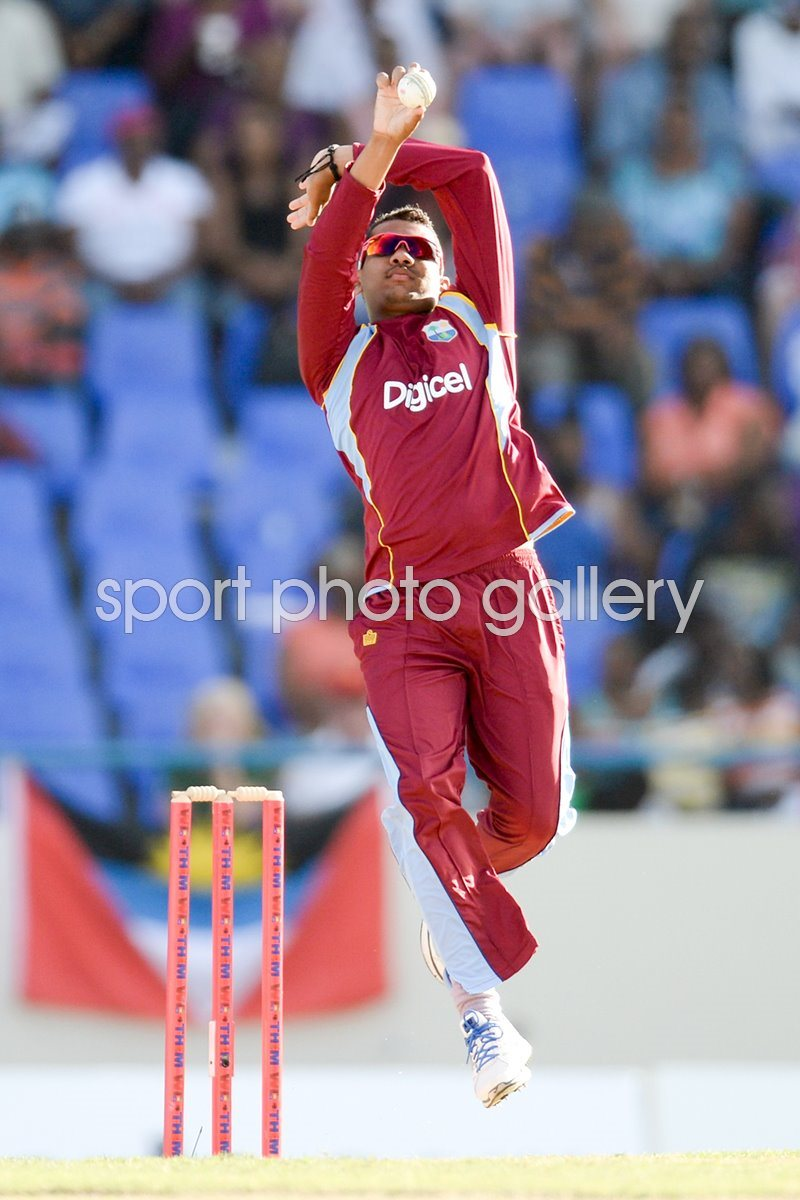 Sunil Narine West Indies v England Antigua 2014