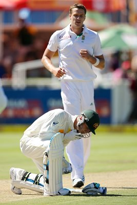Michael Clarke Australia v Morne Morkel Cape Town South Africa 2014