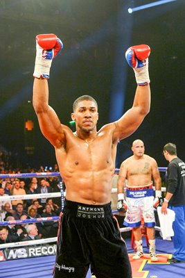 Anthony Joshua wins v Hector Avila Glasgow 2014