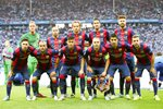 Barcelona team line up Champions League Final Prints