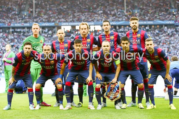 Barcelona team line up Champions League Final