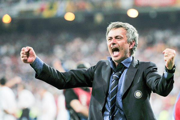 Mourinho of Inter celebrates Champions League victory