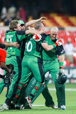 Ireland celebrate win v England World Cup