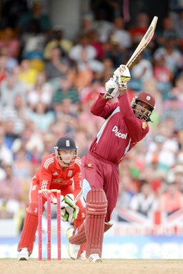 Chris Gayle West Indies v England T20 Barbados 2014