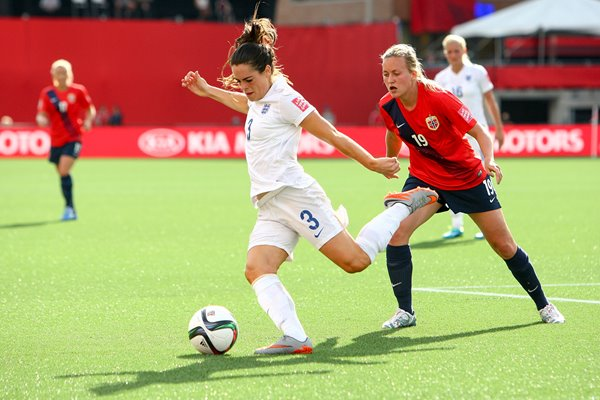 Claire Rafferty England v Norway 2015