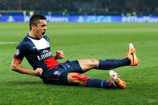 Marquinhos Paris Saint-Germain FC v Bayer Leverkusen 2014