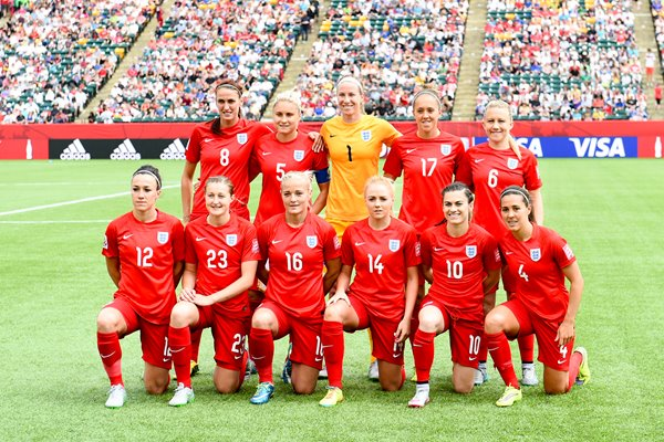 England Third Place Play-off Squad Photo
