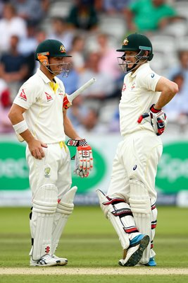 David Warner &  Chris Rogers Lords 2015
