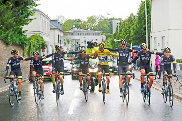 2015 Chris Froome & Team Sky FInal Stage