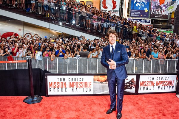Tom Cruise in Times Square