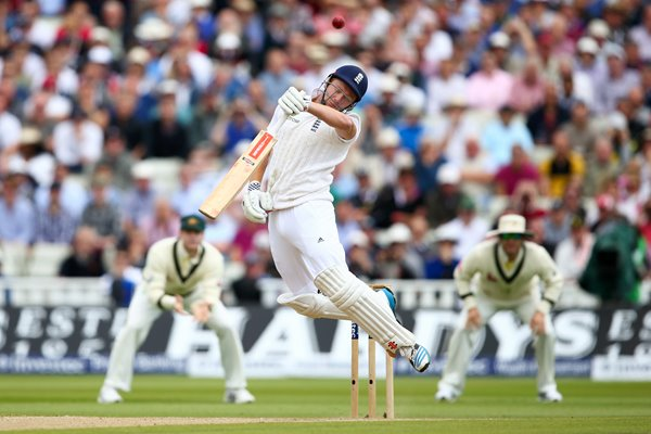 Jonny Bairstow bounced out Mitchell Johnson Ashes 2015