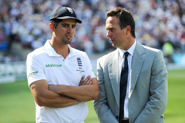 Alastair Cook & Michael Vaughan Edgbaston Ashes 2015